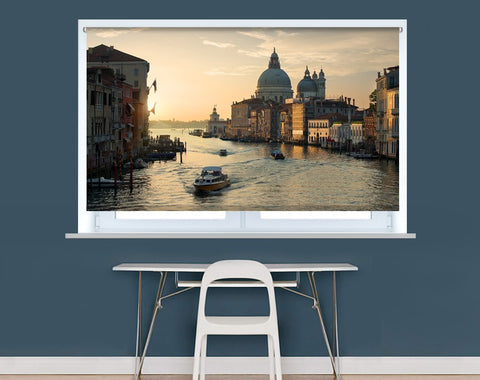 Beautiful calm sunset over Canal Grande in Venice Image Printed Roller Blind - RB967 - Art Fever - Art Fever