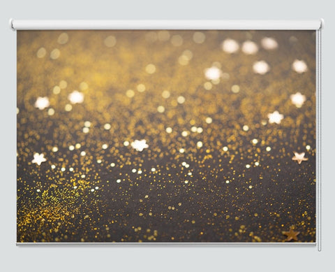 Beautiful Christmas Light And Stars Background Printed Picture Photo Roller Blind - RB1059 - Art Fever - Art Fever