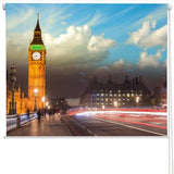 Beautiful colours of Big Ben Printed Picture Photo Roller Blind - RB276 - Art Fever - Art Fever