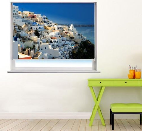 Beautiful Santorini Printed Photo Picture Roller Blind - RB59 - Art Fever - Art Fever