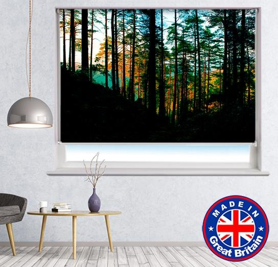 Beautiful woodland landscape Printed Picture Photo Roller Blind - RB670 - Art Fever - Art Fever