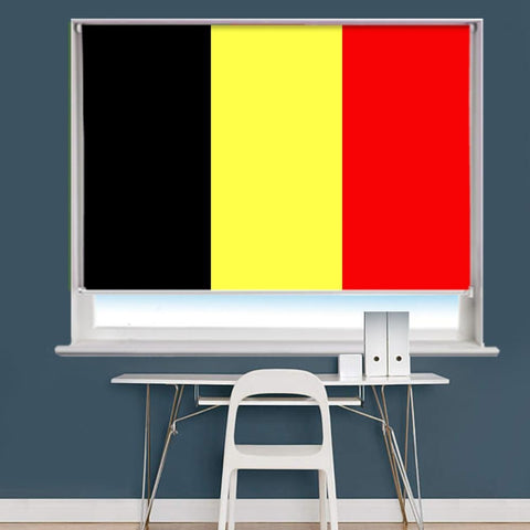 Belgium Flag Printed Picture Roller Blind - RB769 - Art Fever - Art Fever