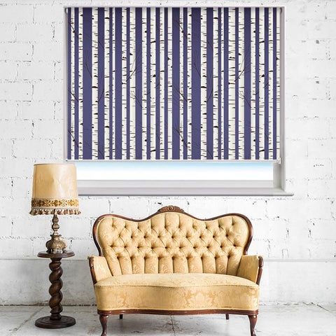 Birch Tree pattern Photo Picture Roller Blind - RB395 - Art Fever - Art Fever