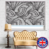 Black White Abstract Pattern Style Printed Picture Photo Roller Blind - RB599 - Art Fever - Art Fever