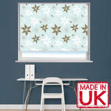 Blue Floral Flower Pattern Printed Picture Photo Roller Blind - RB531 - Art Fever - Art Fever