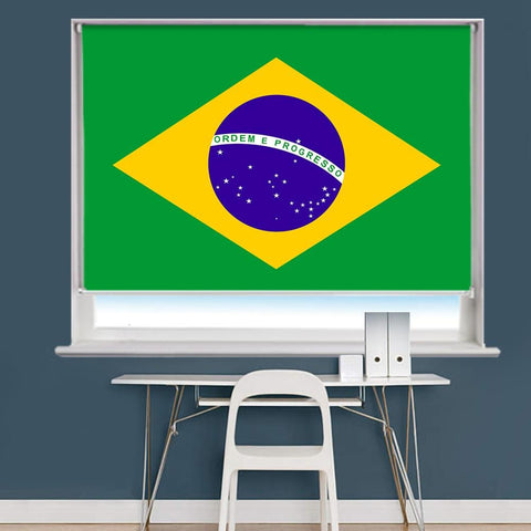 Brazil Flag Printed Picture Roller Blind - RB761 - Art Fever - Art Fever