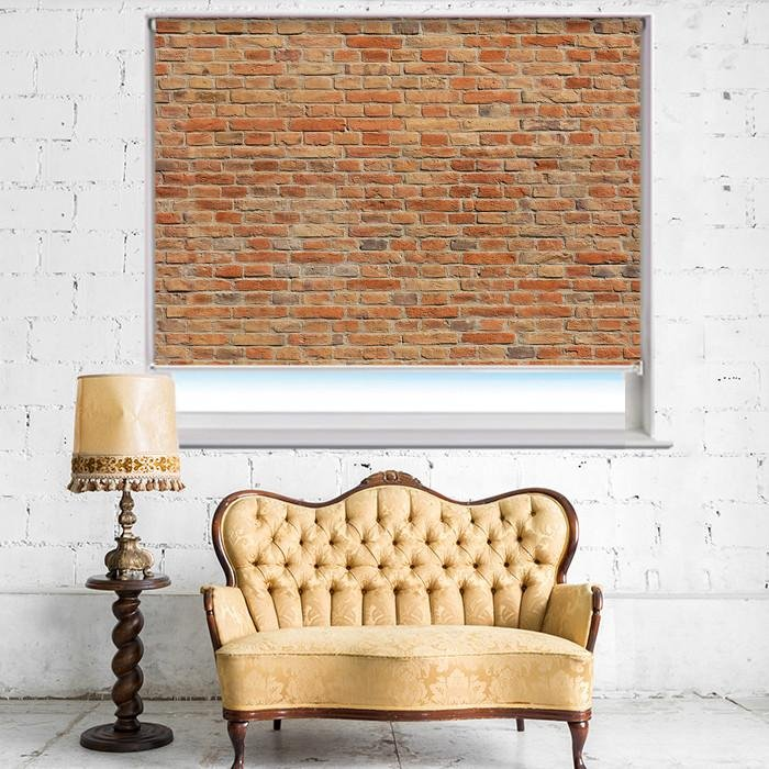 Brick Effect Printed Photo Picture Roller Blind - RB396 - Art Fever - Art Fever
