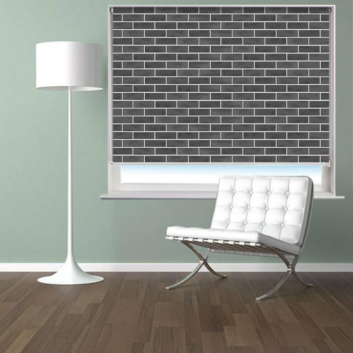 Brick Wall Effect Printed Photo Picture Roller Blind - RB401 - Art Fever - Art Fever