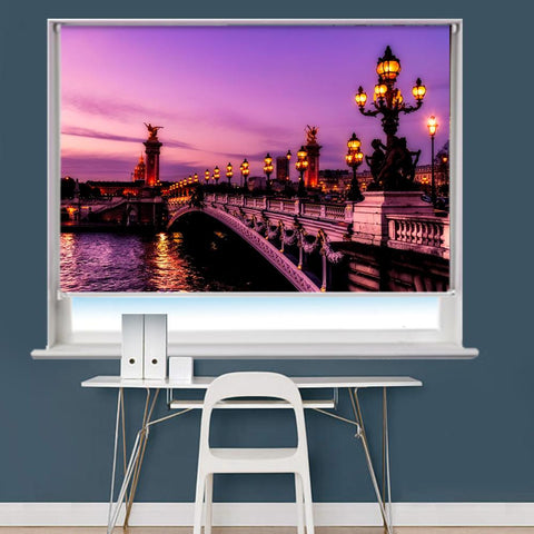 Bridge In Paris France Printed Picture Roller Blind - RB744 - Art Fever - Art Fever