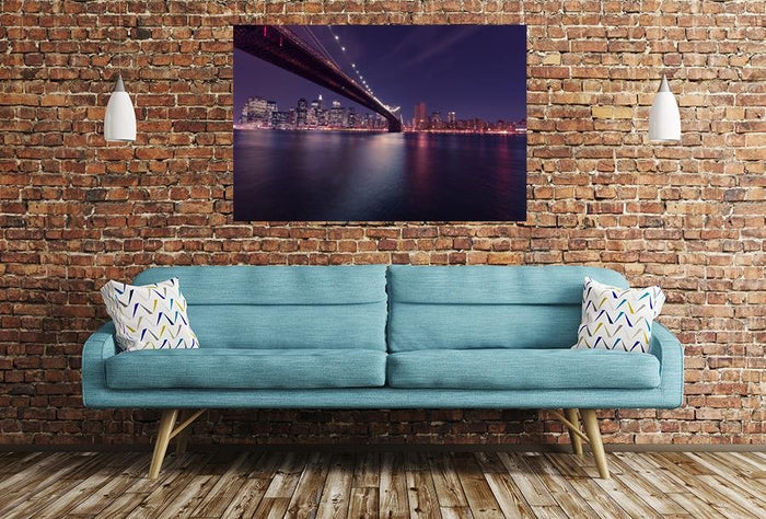 Brooklyn Bridge In New York Image Printed Onto A Single Panel Canvas - SPC29 - Art Fever - Art Fever
