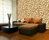 Brown Stone Effect Wallpaper | Self Adhesive Wallpaper Rolls WM647 - Art Fever - Art Fever