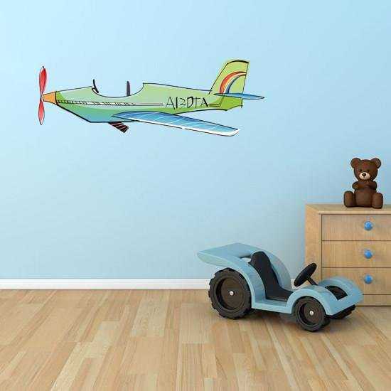 BS20 - cartoon style plane removable wall sticker - Art Fever - Art Fever