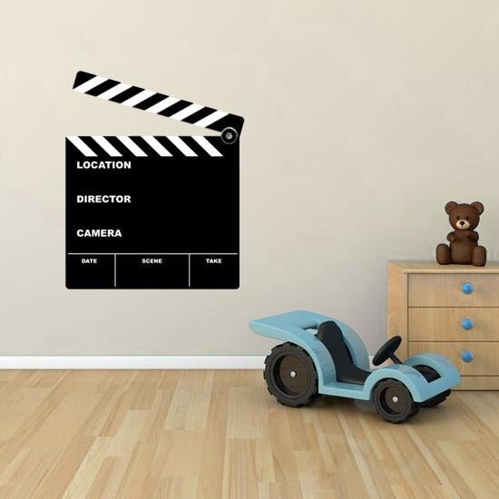 BS38 - Large removable film clapper board wall sticker - Art Fever - Art Fever