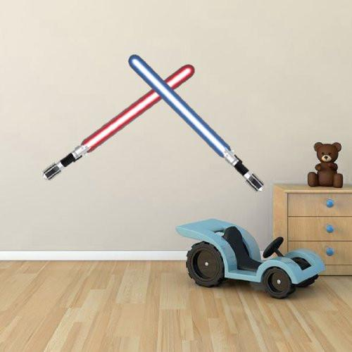 BS54 - Lightsaber wall stickers set. Large removable wall decal. Peel & stick wall sticker - Art Fever - Art Fever