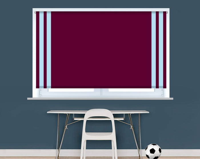 Burnley Football Colours Image Printed Picture Roller Blind - RB929 - Art Fever - Art Fever