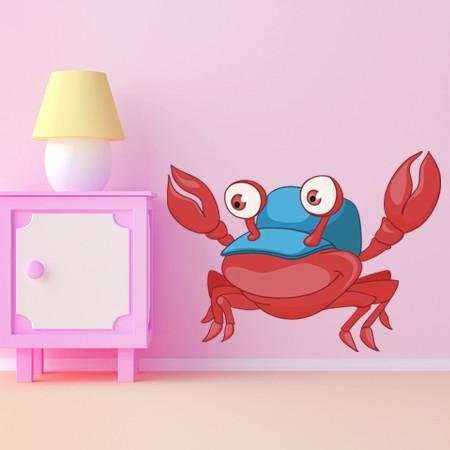 CA12 - Cartoon crab kids nursery wall sticker - Art Fever - Art Fever