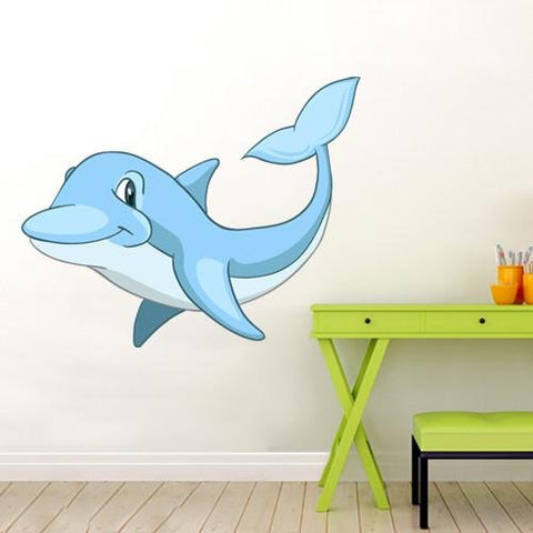 CA13 - Blue dolphin kids nursery wall sticker - Art Fever - Art Fever