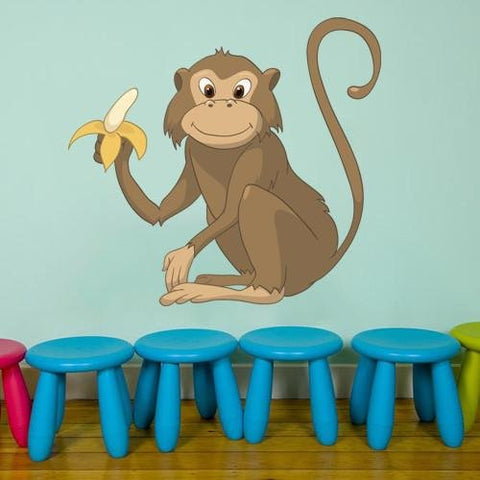CA33 - Cartoon monkey kids animal wall sticker - Art Fever - Art Fever