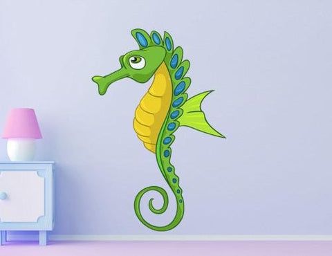CA43 - Cartoon seahorse kids nursery wall sticker - Art Fever - Art Fever