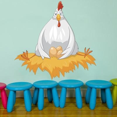 CA8 - Cartoon character chicken kids nursery wall sticker - Art Fever - Art Fever