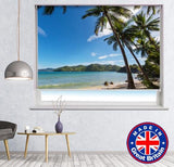 Calming Beach View Printed Picture Photo Roller Blind - RB637 - Art Fever - Art Fever