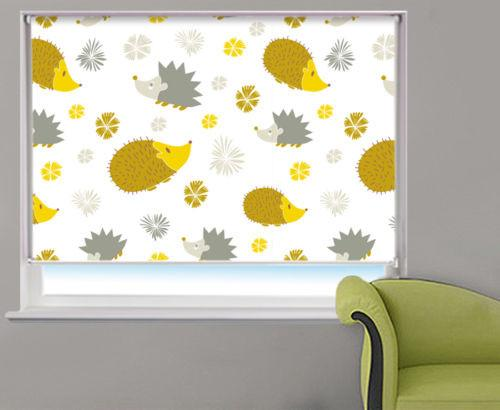 Cartoon Hedgehogs Animal Pattern Printed Picture Photo Roller Blind - RB534 - Art Fever - Art Fever
