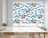 Cartoon Sloth Christmas Tree Printed Picture Photo Roller Blind - RB1066 - Art Fever - Art Fever