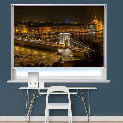 Chain Bridge In Budapest Hungary Printed Picture Roller Blind - RB743 - Art Fever - Art Fever