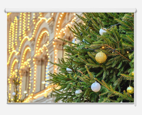 Christmas Tree In Moscow City Printed Picture Photo Roller Blind - RB1048 - Art Fever - Art Fever