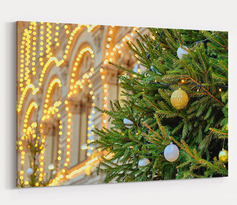 Christmas Tree Scene Printed Canvas Print Picture - SPC193 - Art Fever - Art Fever