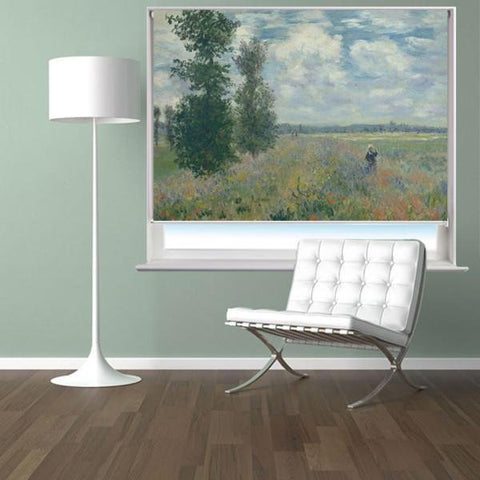 Claude Monet Poppy Fields near Argenteuil Art Printed Picture Photo Roller Blind - RB282 - Art Fever - Art Fever