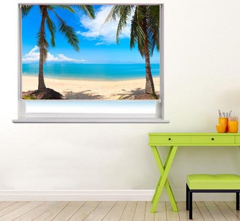 Coconut palm Trees in Thailand Printed Photo Picture Roller Blind - RB57 - Art Fever - Art Fever