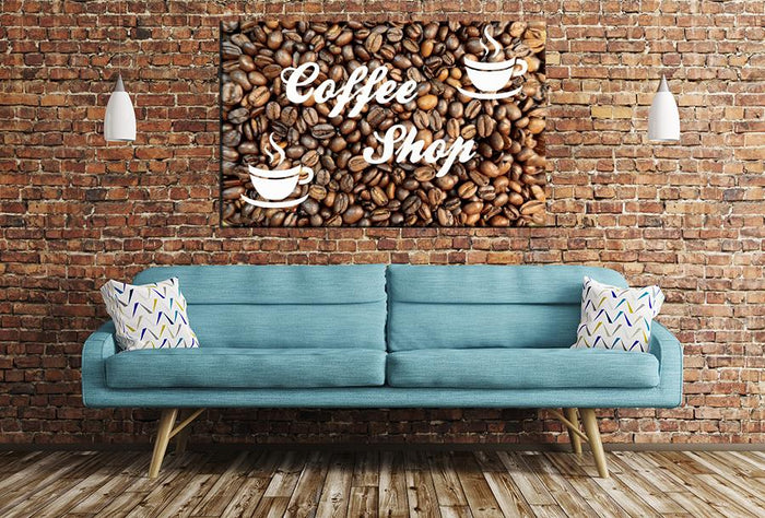 Coffee Shop Image Printed Onto A Single Panel Canvas - SPC130 - Art Fever - Art Fever