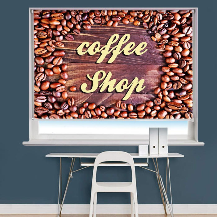 Coffee Shop Image Printed Roller Blind - RB891 - Art Fever - Art Fever