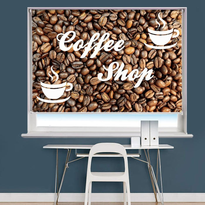 Coffee Shop Image Printed Roller Blind - RB893 - Art Fever - Art Fever