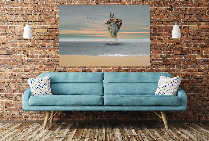 Composing Island In The Sea Image Printed Onto A Single Panel Canvas - SPC09 - Art Fever - Art Fever