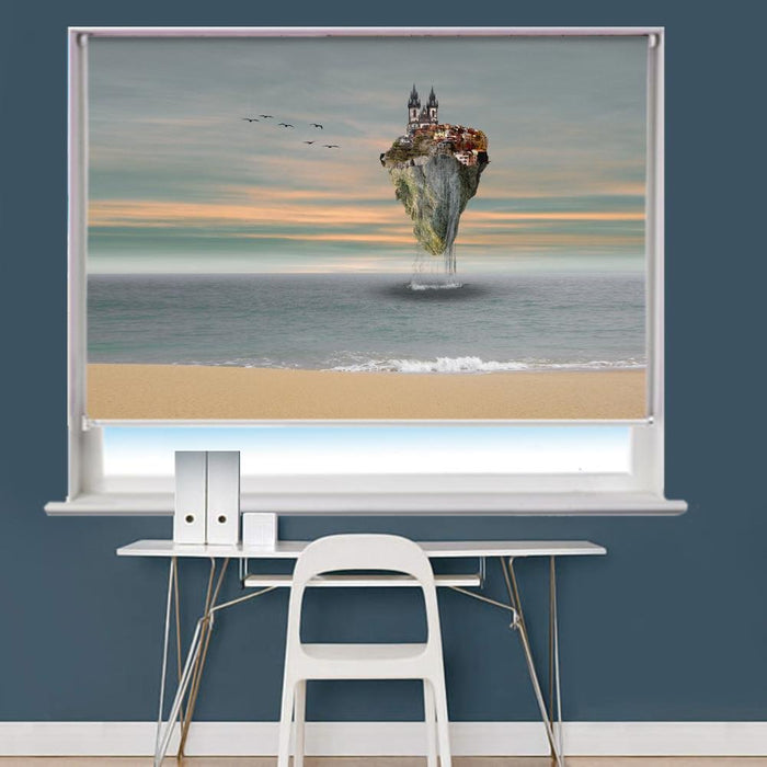 Composing Island In The Sea Image Printed Roller Blind - RB811 - Art Fever - Art Fever