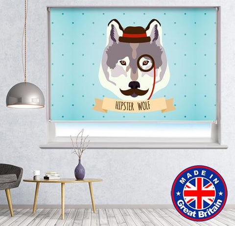 Cool Wolf Cartoon style Printed Picture Photo Roller Blind - RB660 - Art Fever - Art Fever