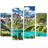 CWA12 - The Altai Mountains 4 Panel Canvas Wall Art - Art Fever - Art Fever