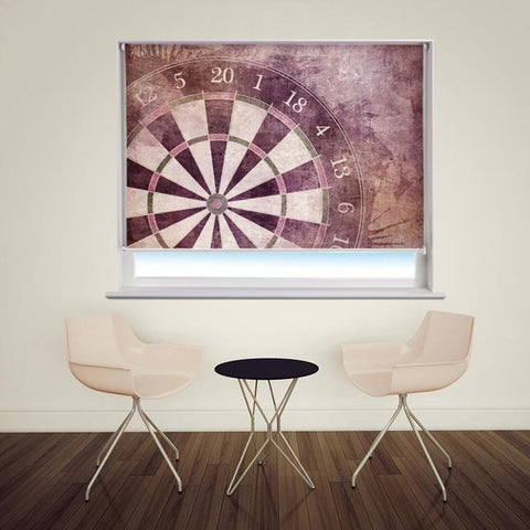 Dart board vintage style Printed Picture Photo Roller Blind - RB167 - Art Fever - Art Fever