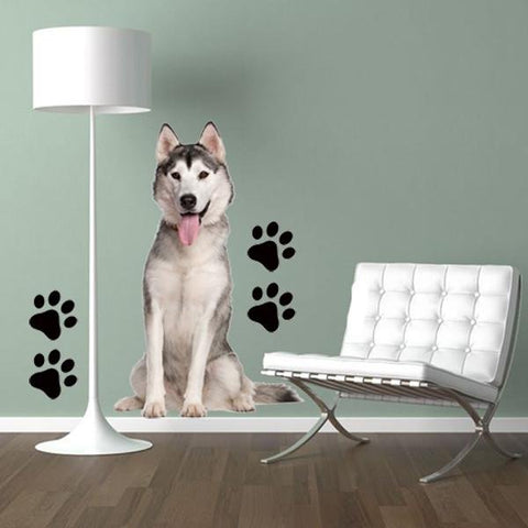 DCS1 - Life size husky dog wall decal - Art Fever - Art Fever