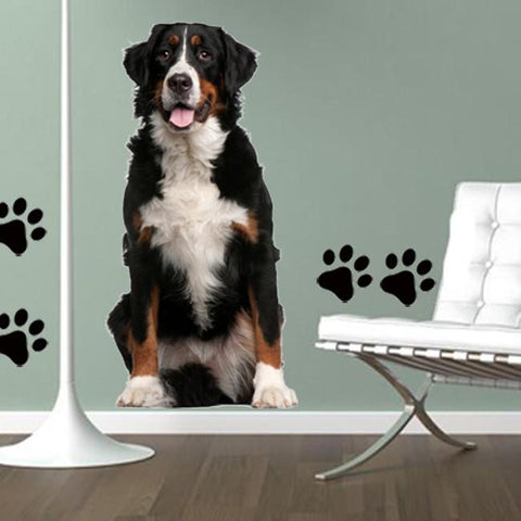 DCS4 - life size bernese mountain dog removable wall decal - Art Fever - Art Fever