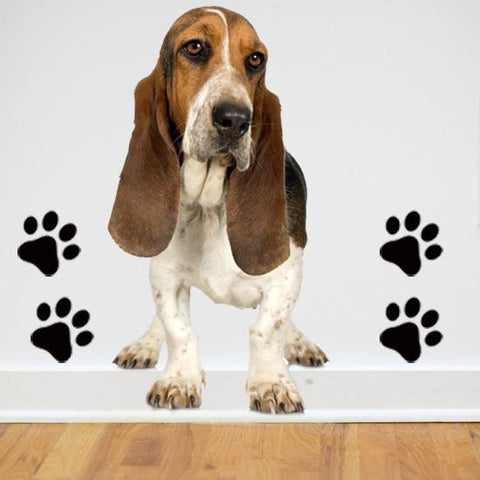 DCS8 - Large basset hound removable dog wall decal - Art Fever - Art Fever