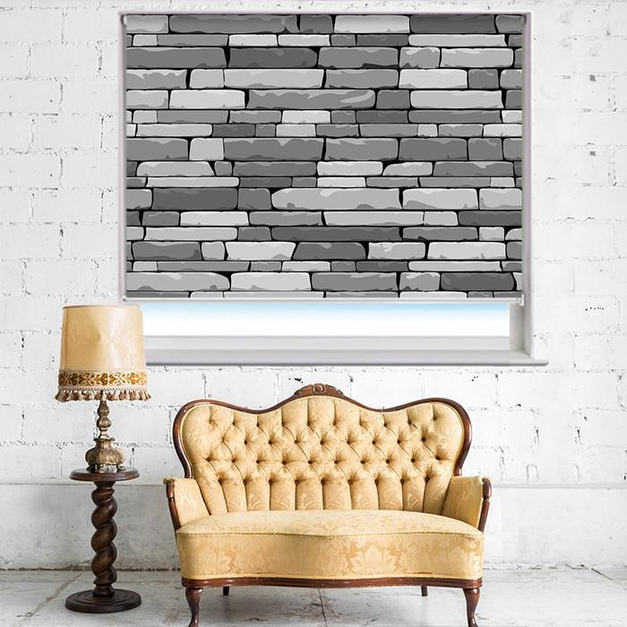 Digital Stone Effect Printed Photo Picture Roller Blind - RB404 - Art Fever - Art Fever