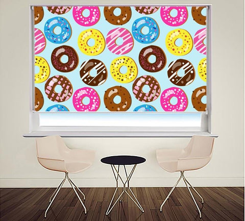 Doughnut Pattern Printed Photo Picture Roller Blind - RB409 - Art Fever - Art Fever