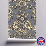 Eastern Style Paisley Pattern Removable Self Adhesive Wallpaper - WM609 - Art Fever - Art Fever