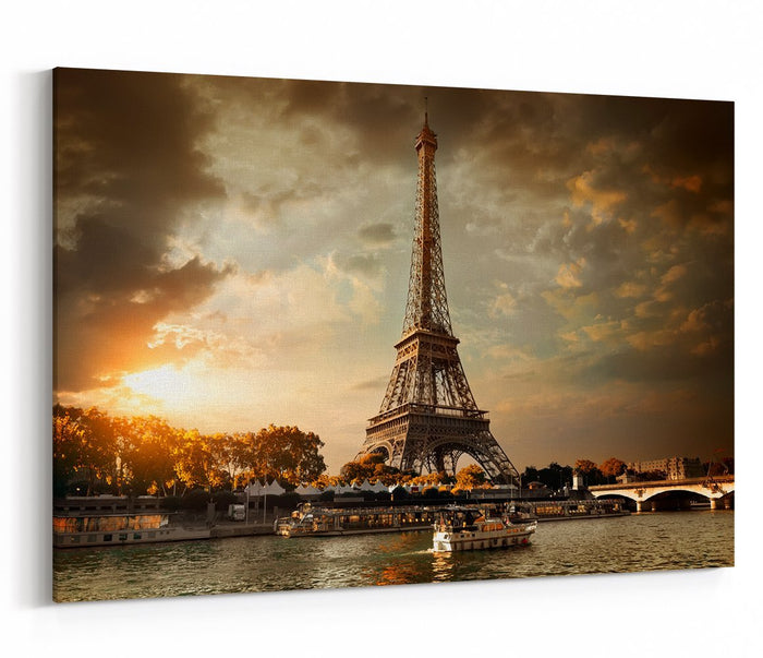 Eiffel Tower And Bridge Iena On The River Seine In Paris Canvas Print Picture - SPC270 - Art Fever - Art Fever