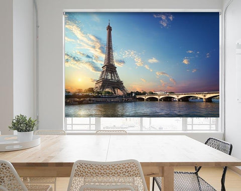 Eiffel Tower and bridge Iena on the river Seine, Paris Image Printed Roller Blind - RB964 - Art Fever - Art Fever