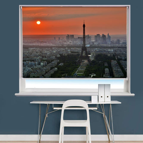 Eiffel Tower In Paris Scene Image Printed Roller Blind - RB816 - Art Fever - Art Fever