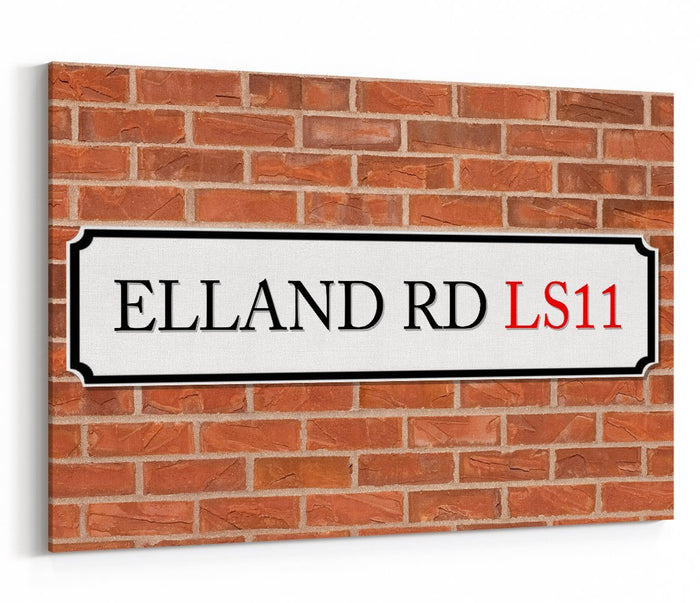 Elland Road LS11 Street Sign Canvas Print Picture - SPC238 - Art Fever - Art Fever